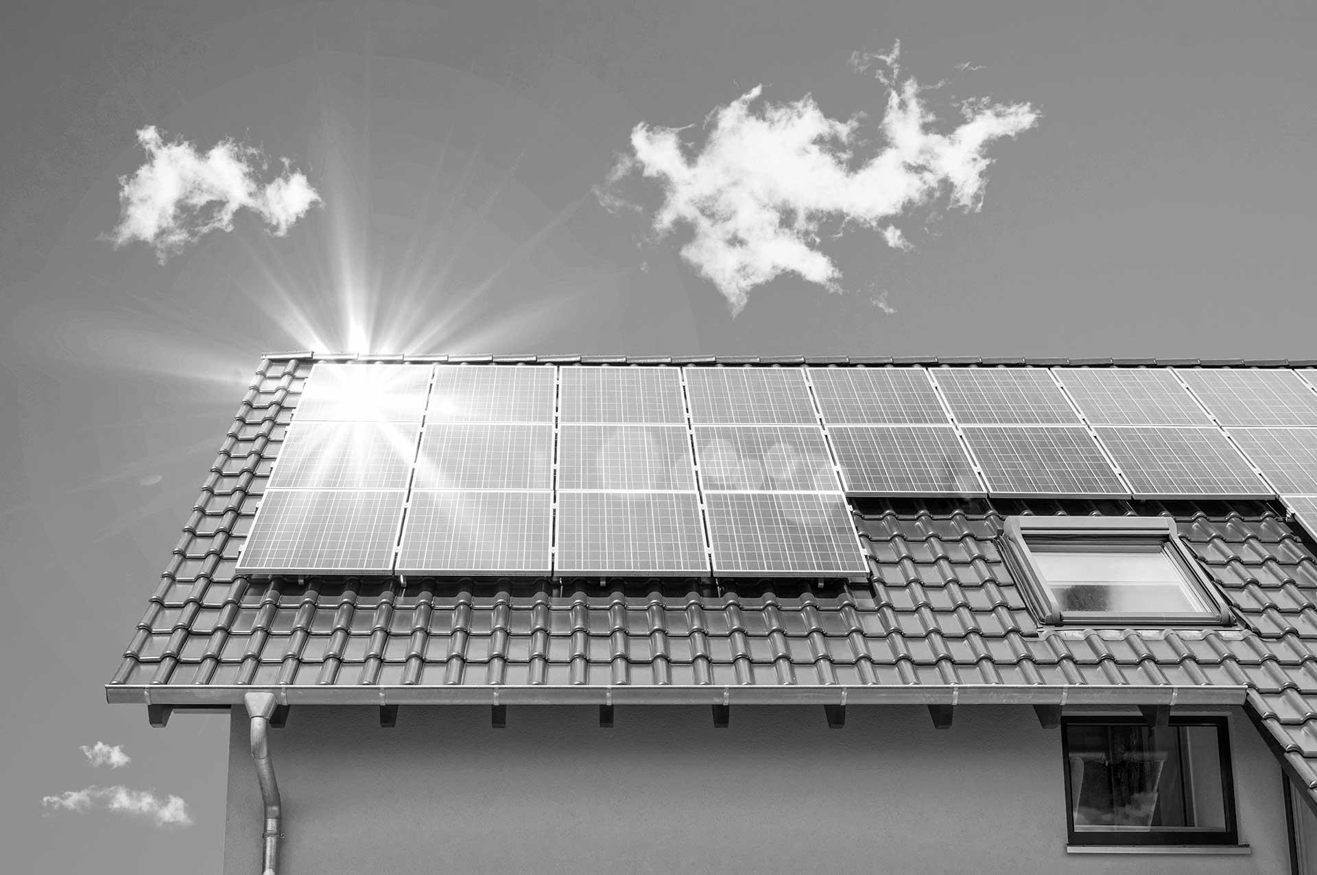 solar panels with skylight